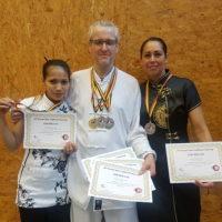 Vanaf links: Argentina Cotcheza, Douwe Geluk, Laura Bonthuis